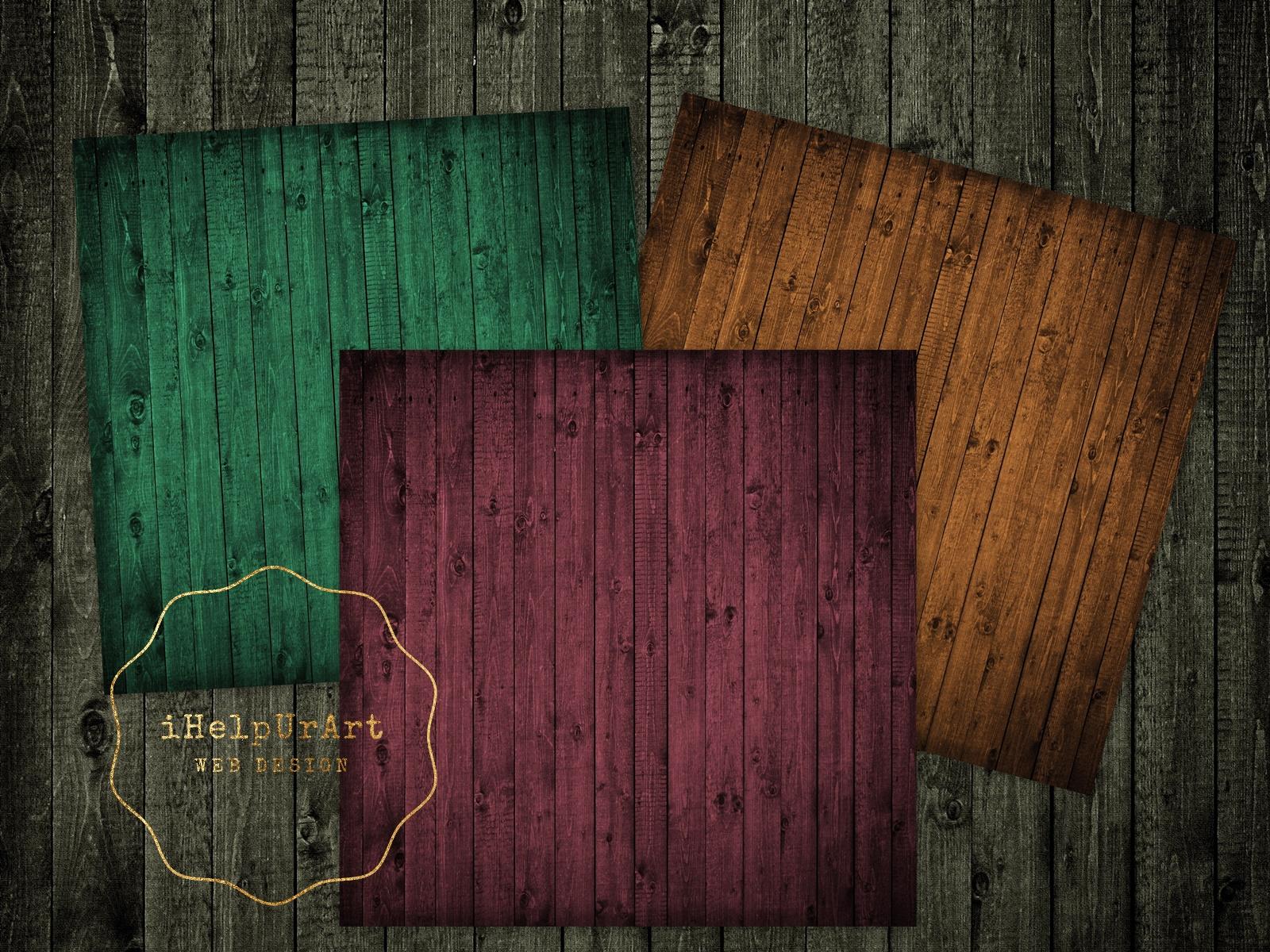 Dark Wood Texture Paper example image 3