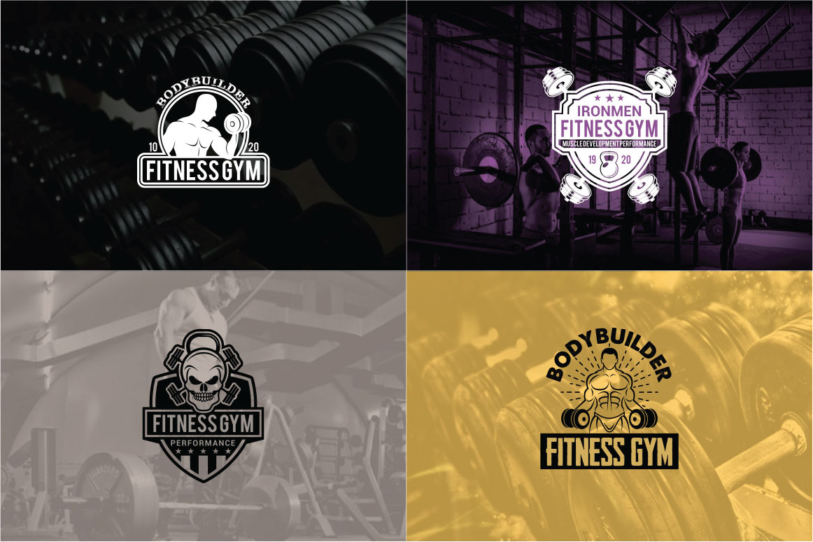 83 fitness gym bundle Logos Labels & Badges example image 19