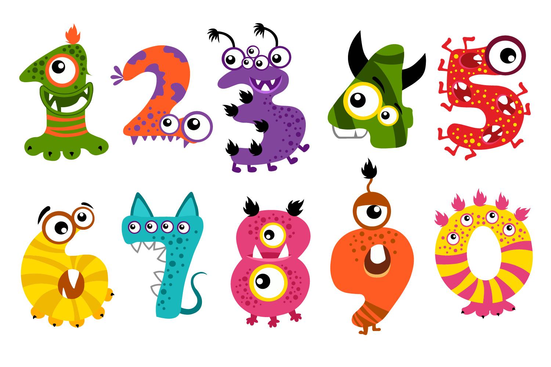 Halloween Monster Numbers Bundle example image 3