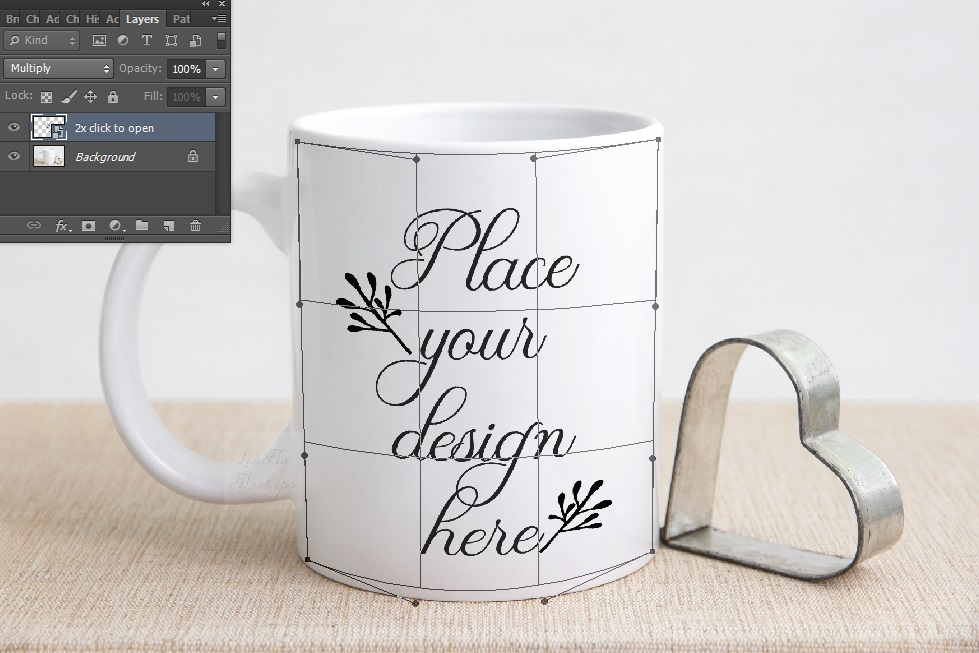 Valentine's white coffee mug mockup rustic sublimation mock example image 7