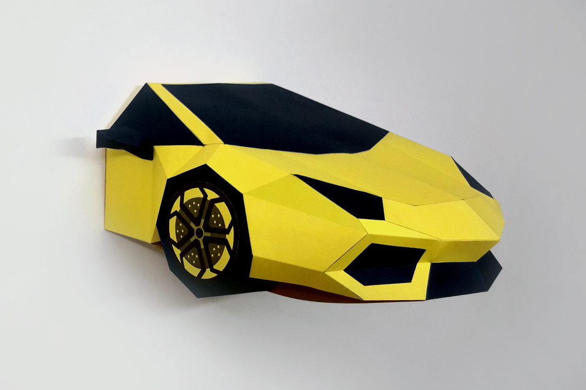 DIY Car Front - 3d papercraft example image 3