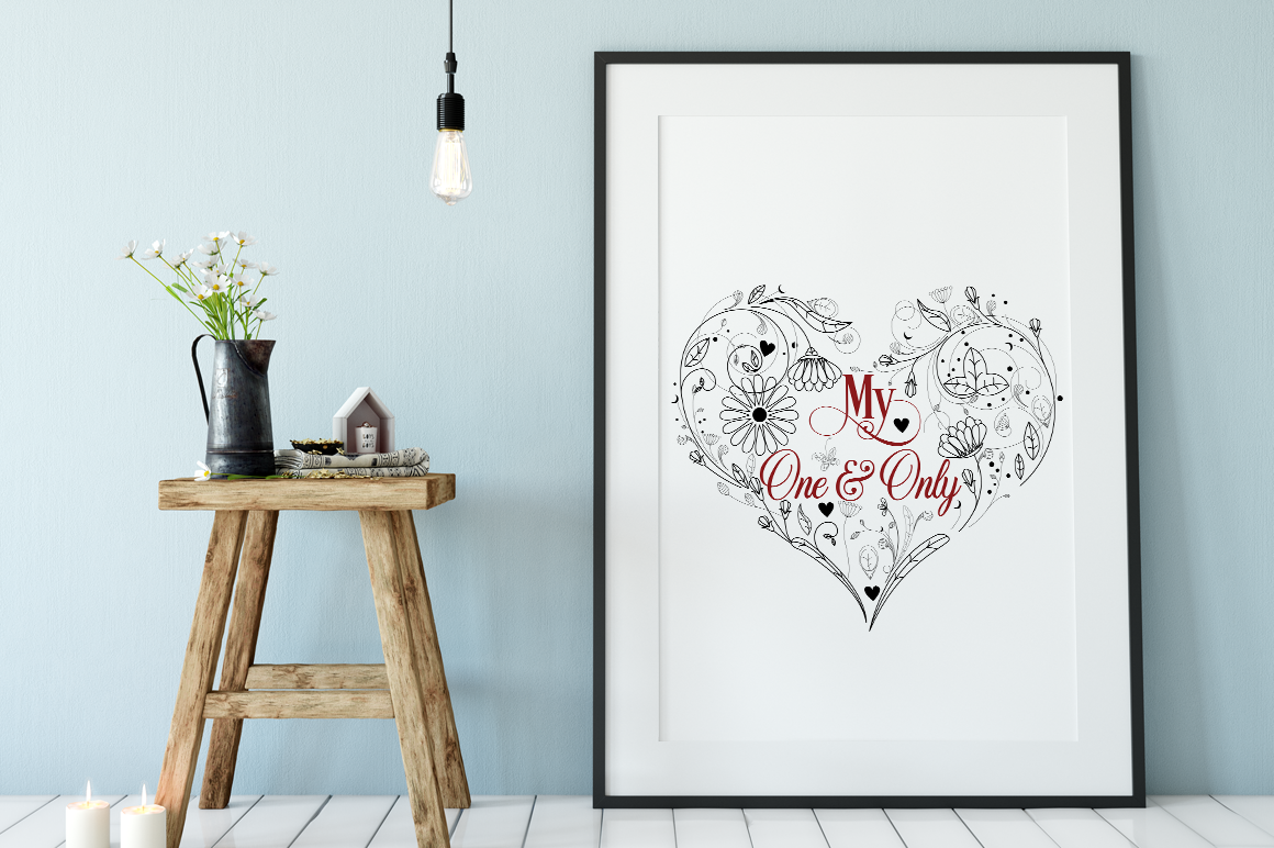 Valentine SVG Cut File - My One & Only example image 2