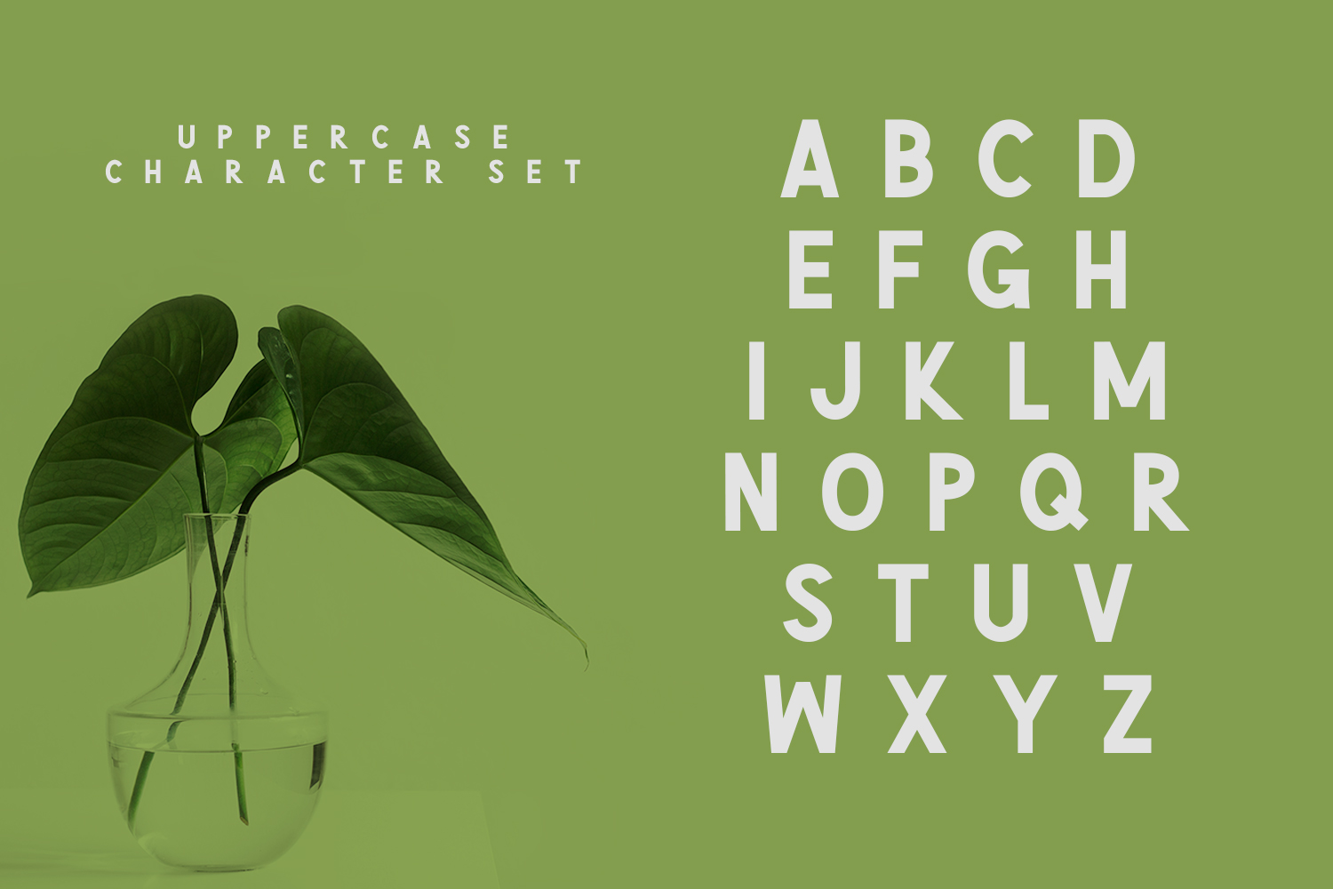 Green | Natural Cute Font example image 4