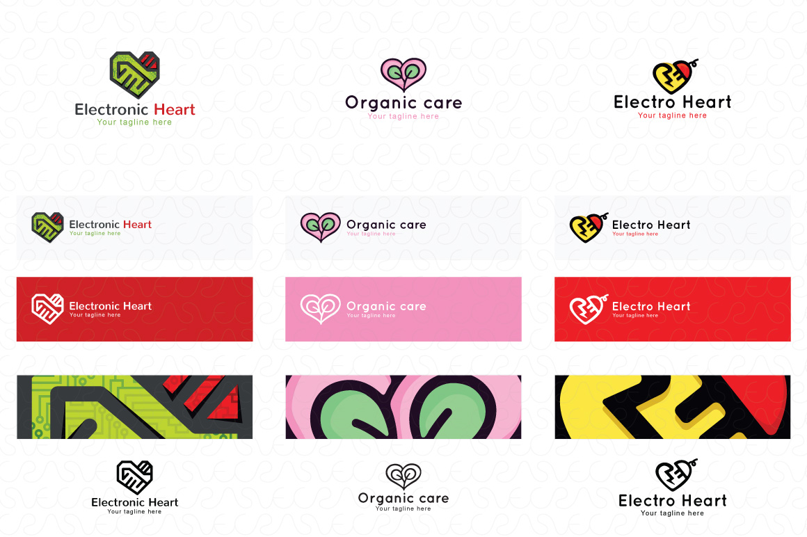 Heart Shape & Love Symbol Logo Templates Pack of 32 example image 5
