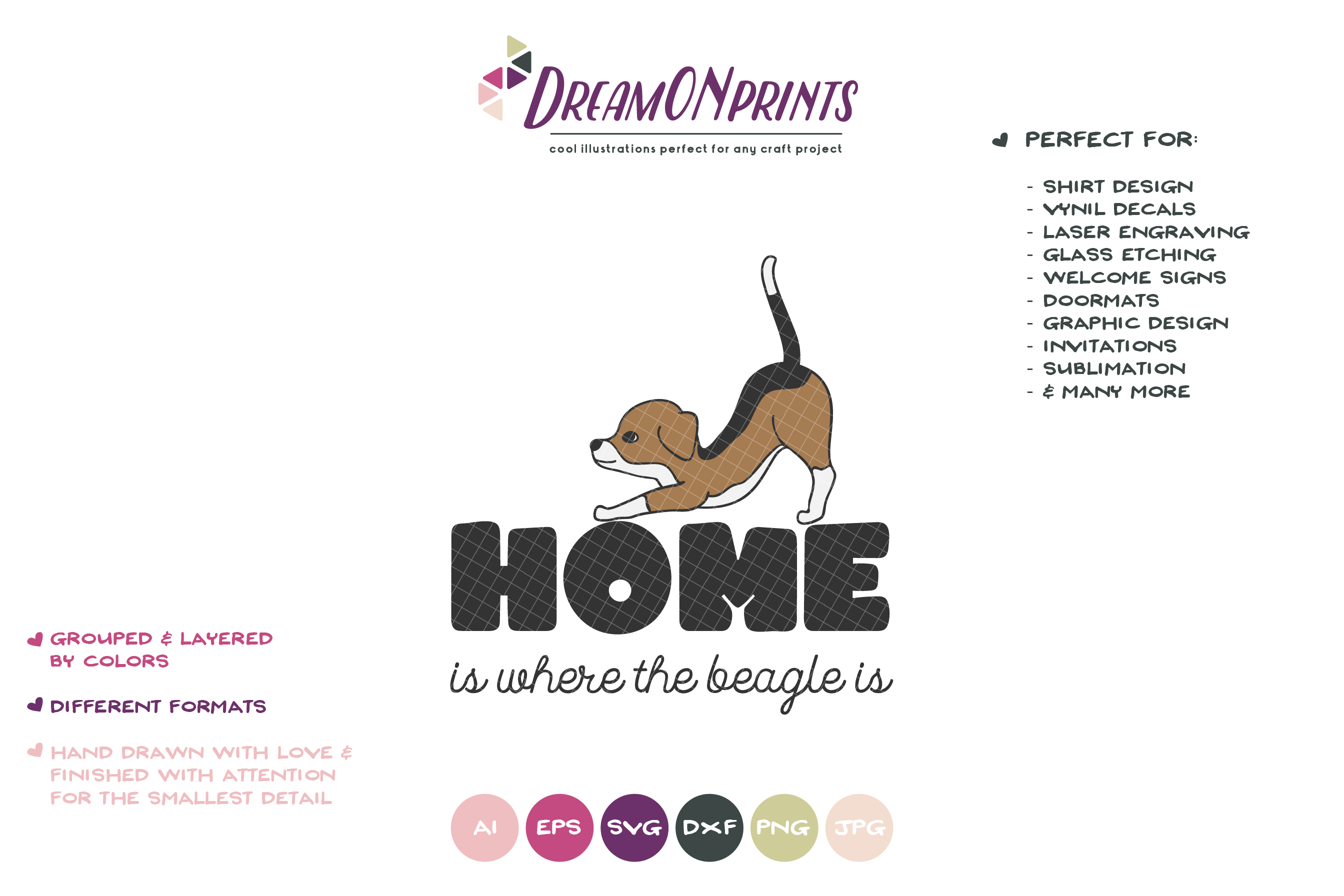 Beagle SVG - Home is Where theBeagle is example image 2