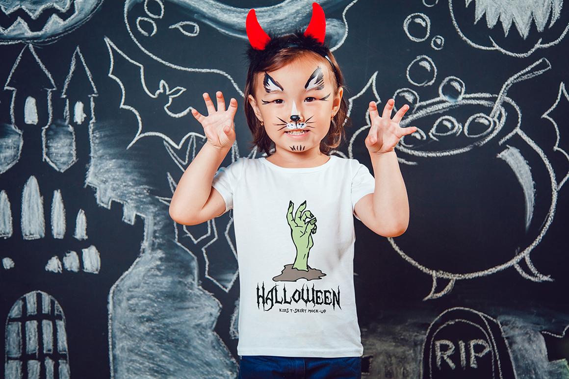 Halloween Kids T-Shirt Mock-Up example image 5