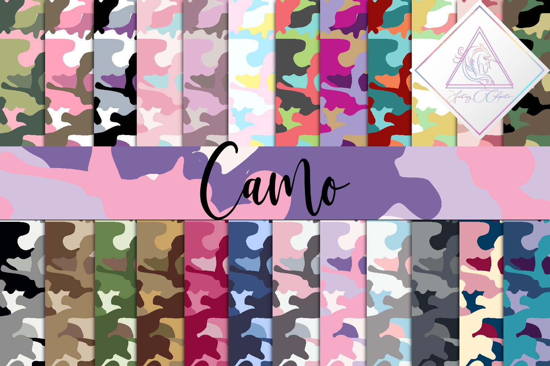 Camo Digital Paper example image 1