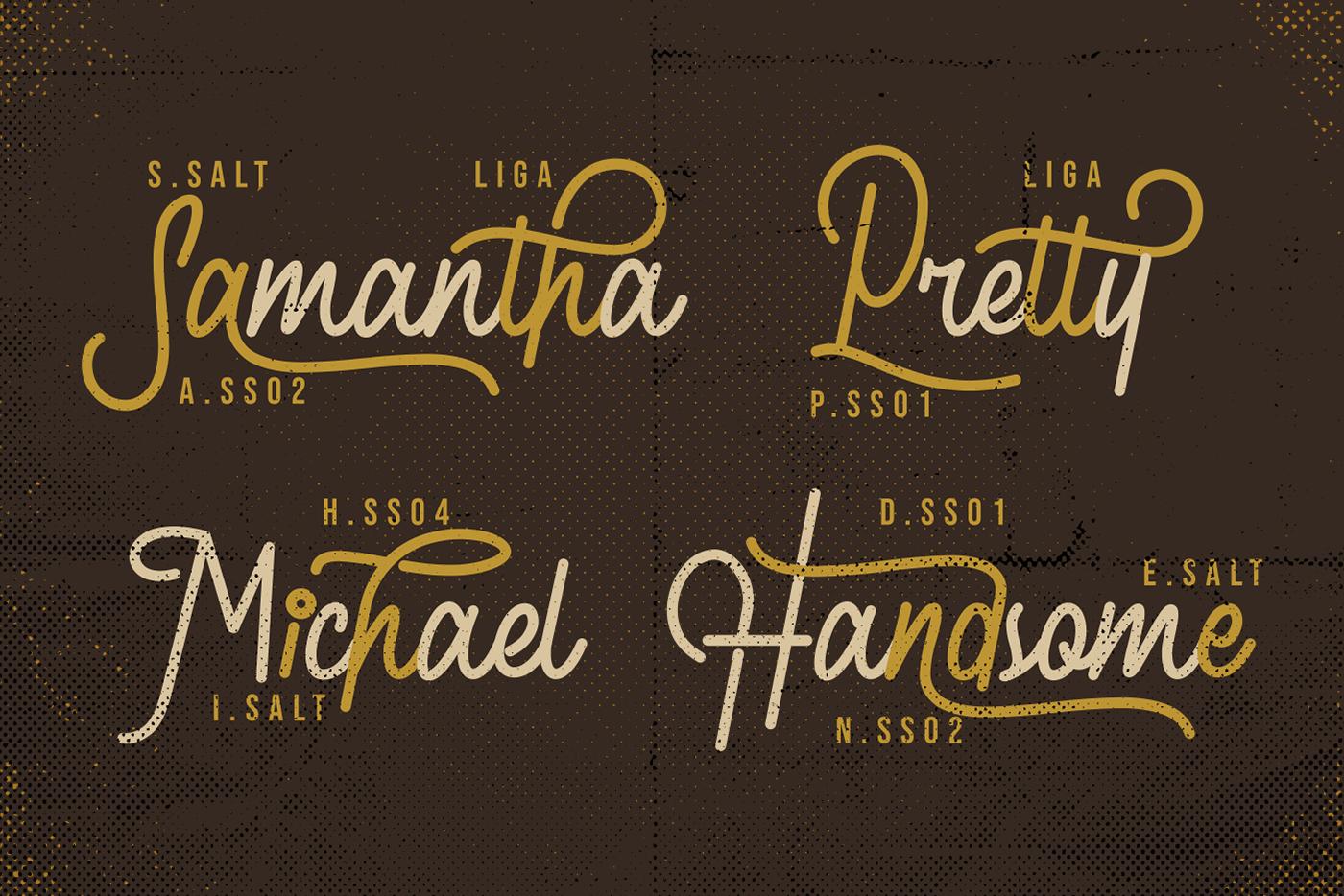Retroville Monoline Typeface - Script Font example image 6