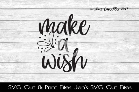 Make A Wish SVG Cut File example image 1
