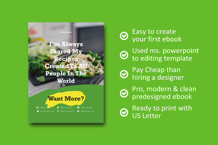 Vegetarian Recipe eBook Template Theme PowerPoint example image 8