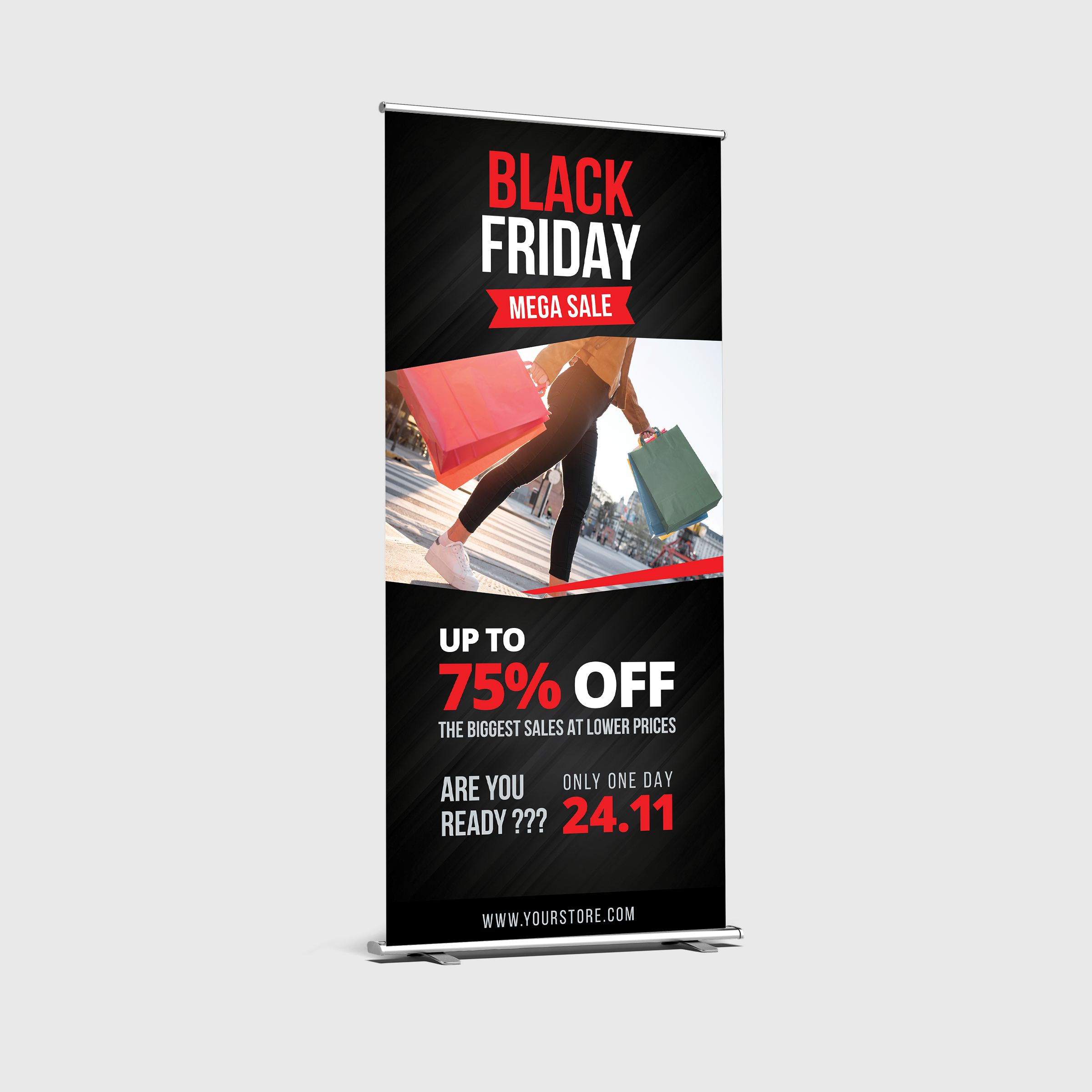 Black Friday Roll Up Banner example image 2
