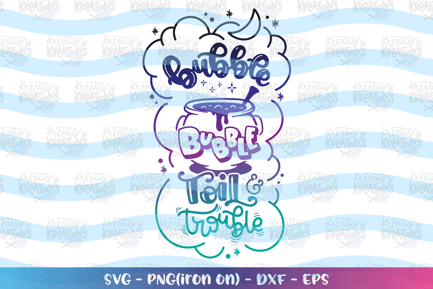 Bubble Bubble Toil and Trouble svg Halloween quote svg example image 1