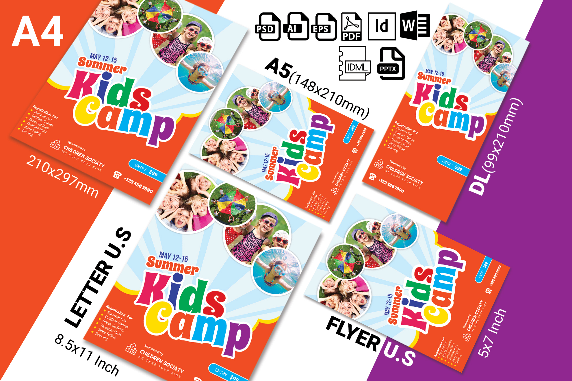 Kids Summer Camp Flyer Vol-02 example image 2