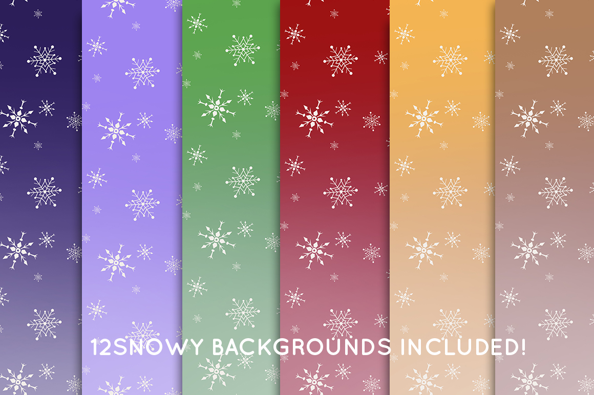 Wild Christmas Clip Art Collection example image 3
