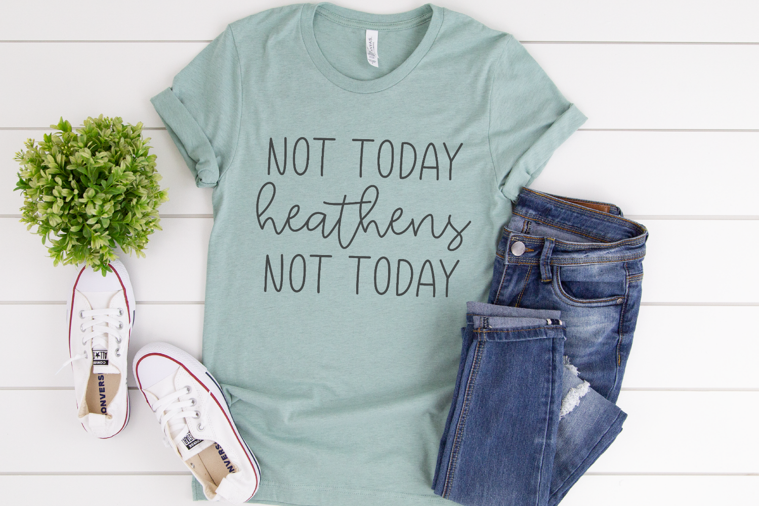 Chaos - Mom - Not Today Heathens Not Today SVG example image 2