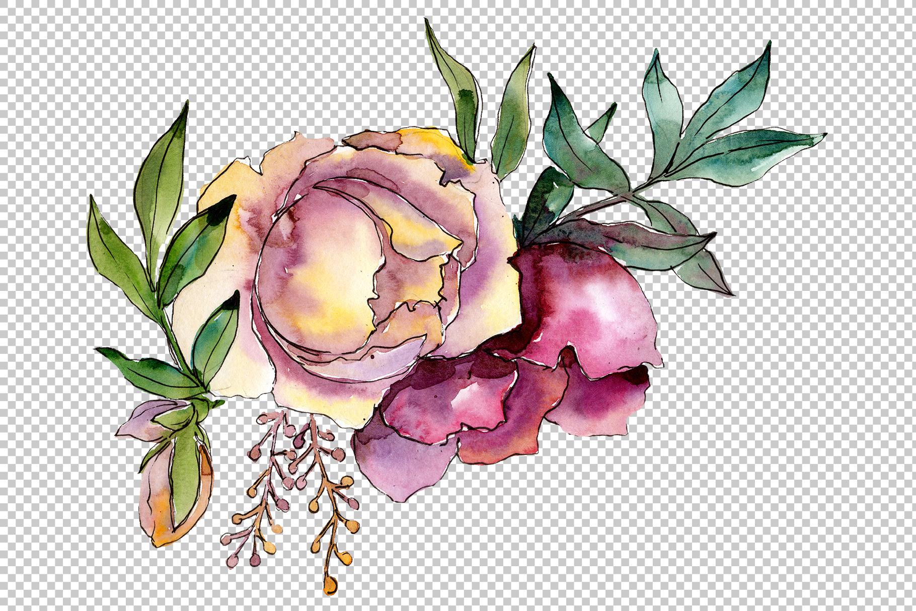 Bouquet Tender dreams watercolor example image 2