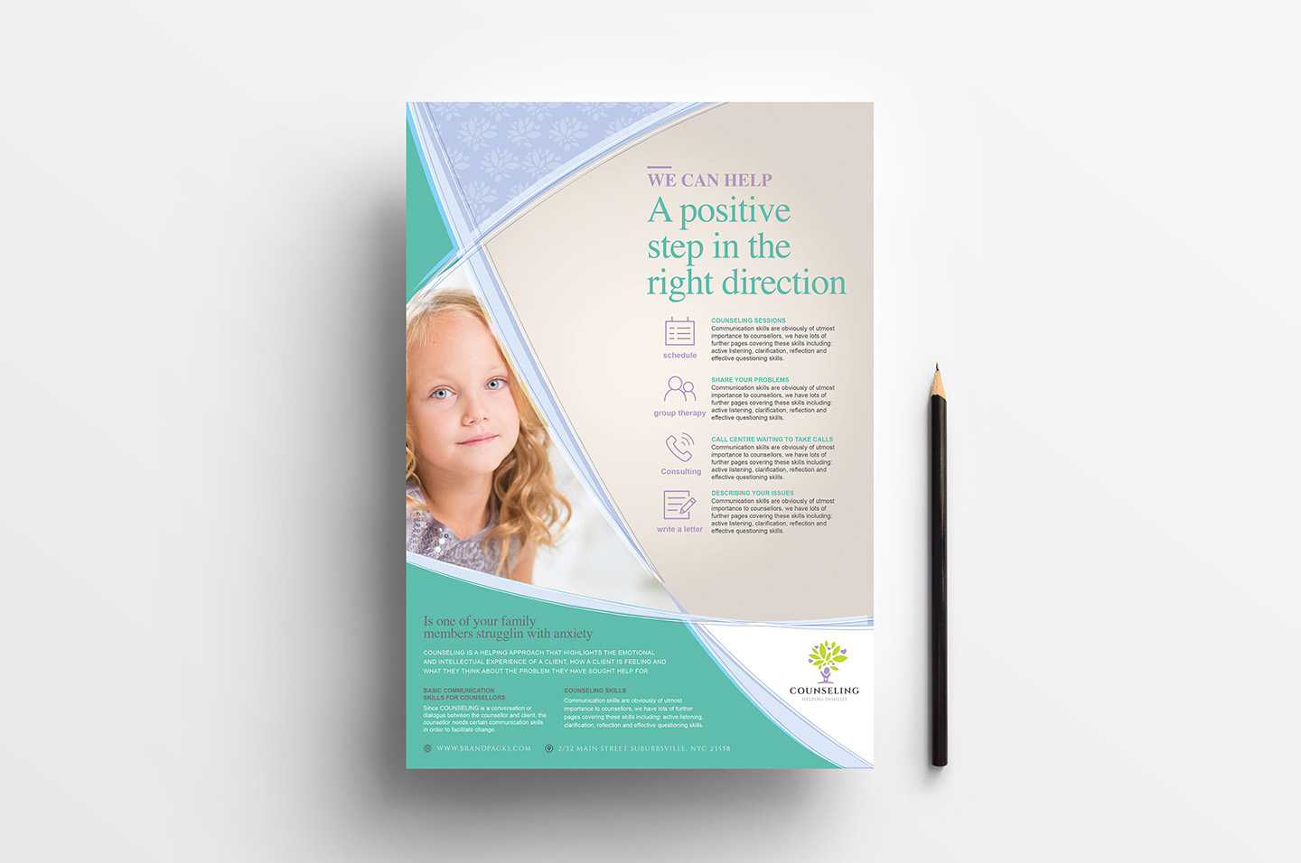 A4 Counselling Service Advertisement Templates example image 2