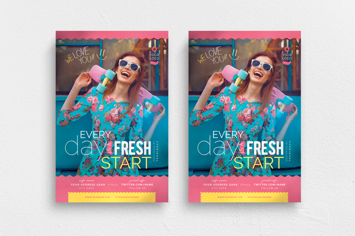 Every Day Is A Fresh Start Flyer Template example image 1