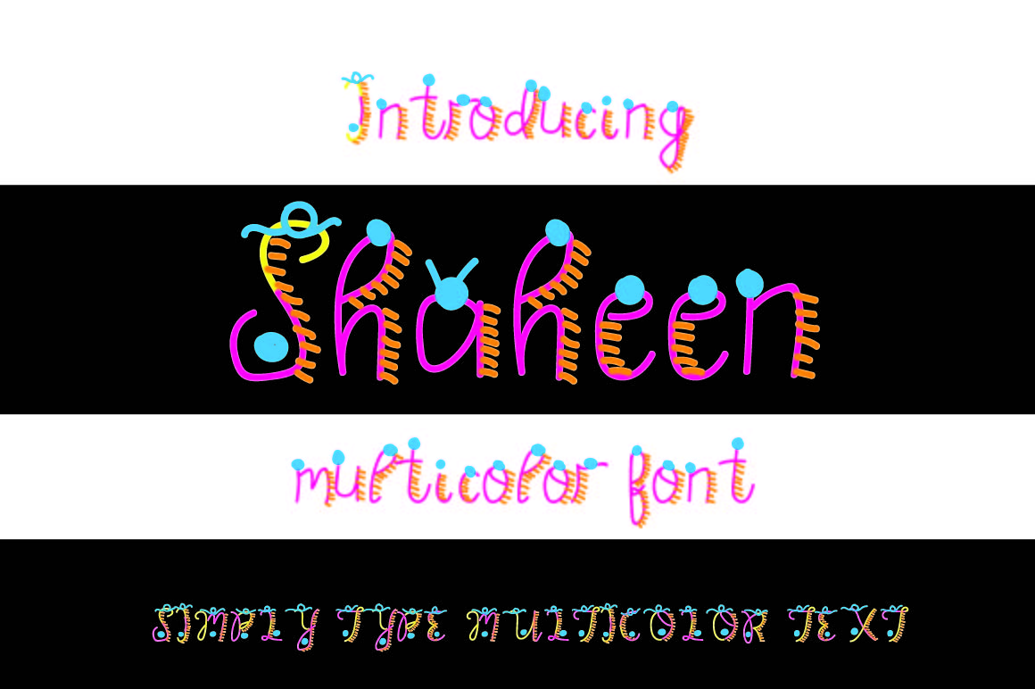 Shaheen Multicolor font example image 1