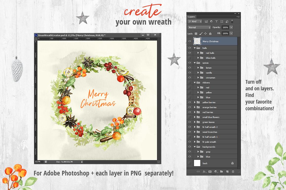 Christmas Wreath Creator example image 5