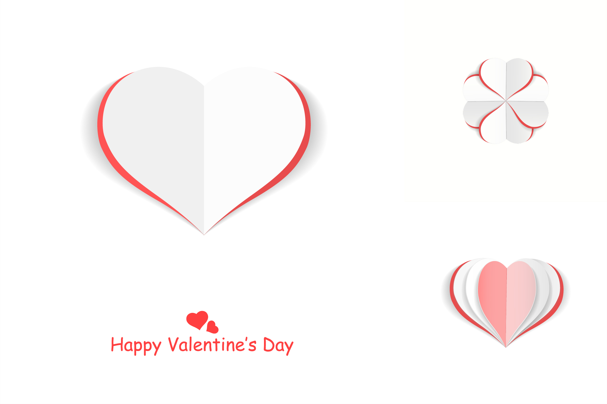 Valentine day postcards with hearts example image 5