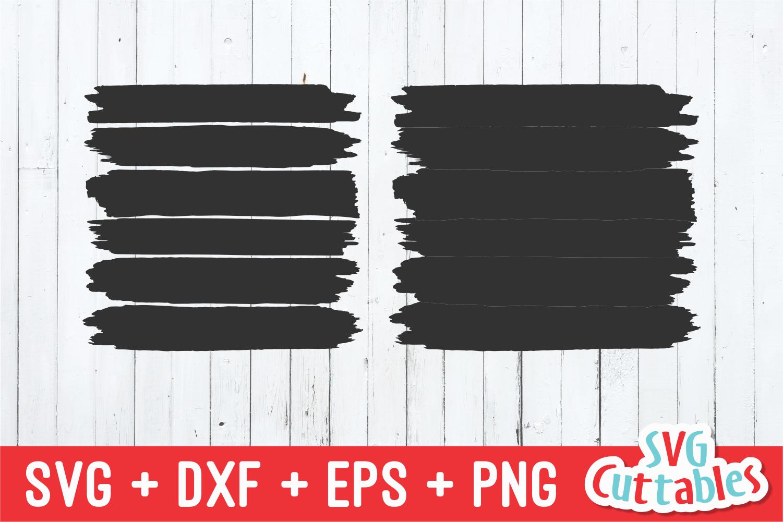 Brush Stroke Frames | SVG Cut File example image 2