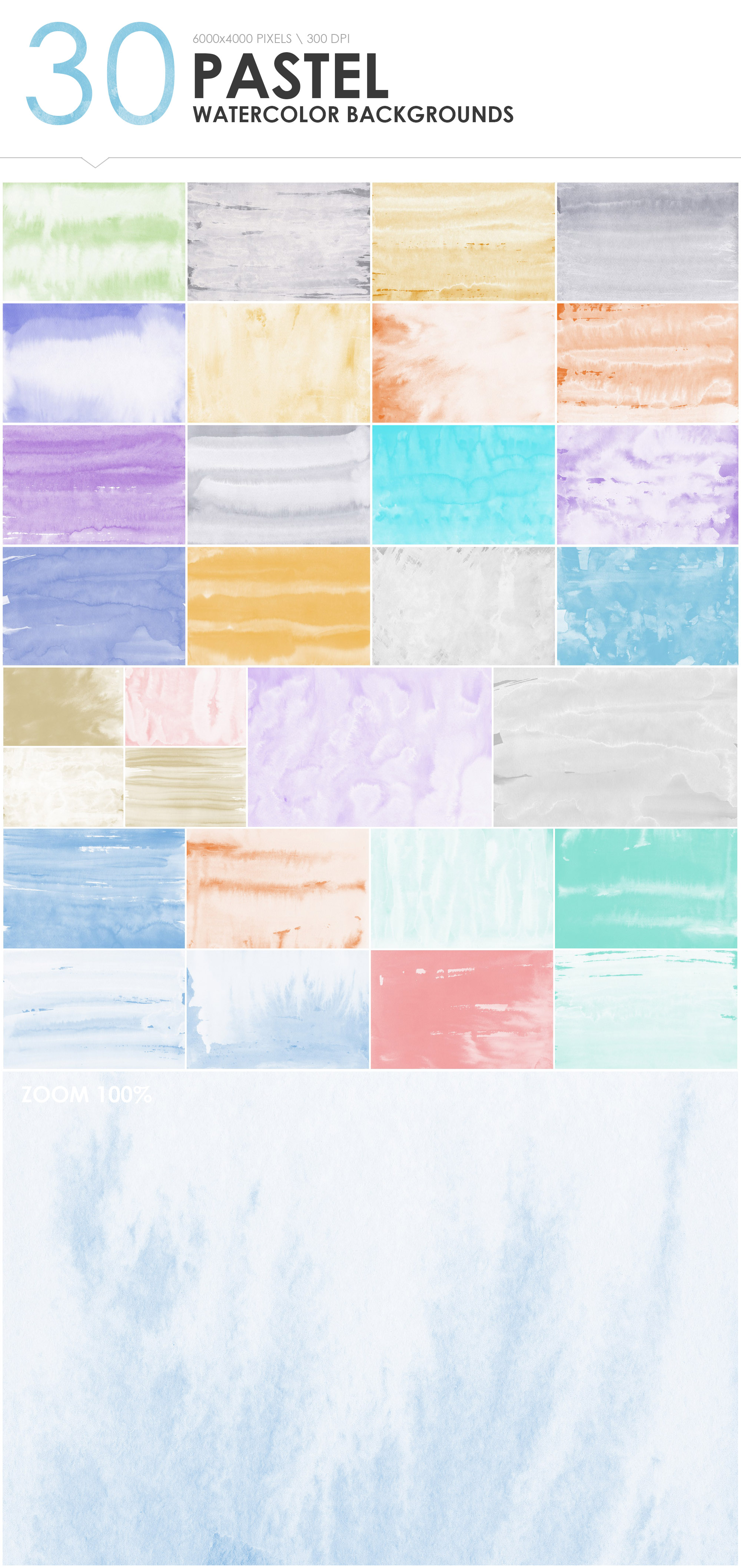 300 Diverse Watercolor Backgrounds example image 8
