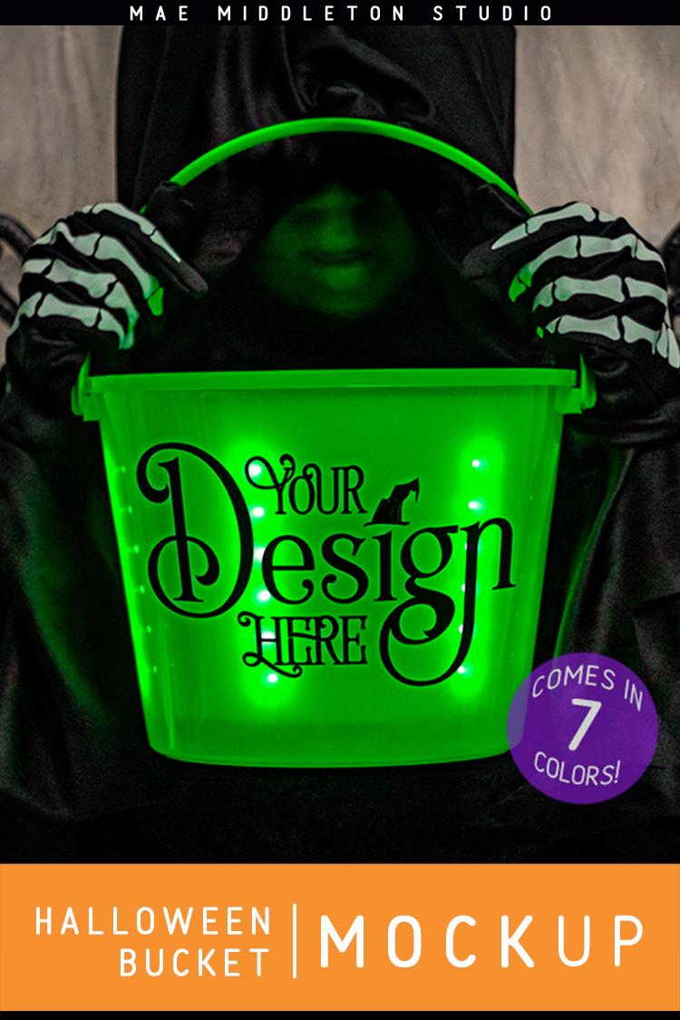 Halloween Buckets - styled photo, mock ups example image 3