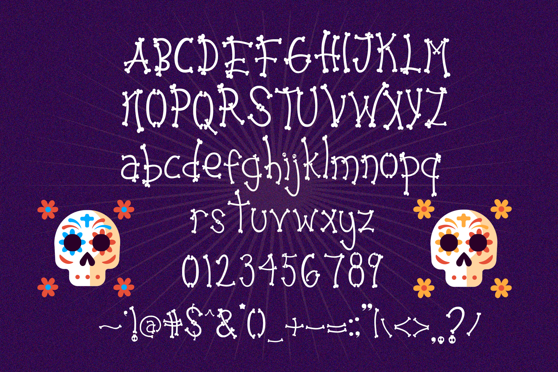 Dead Skull - Bone Skull Font example image 6