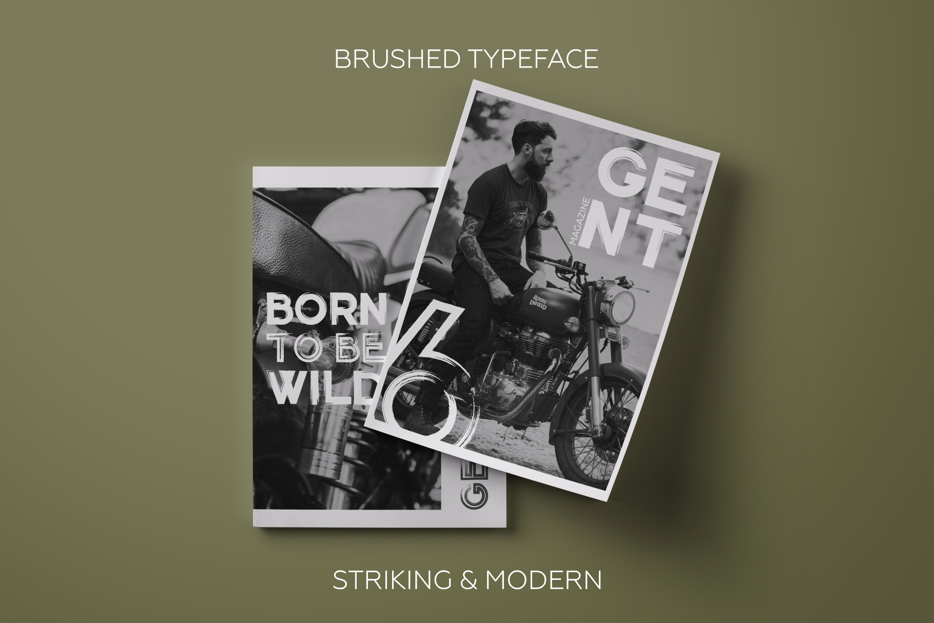 Gent. Display brushed typeface. Striking and modern. example image 5