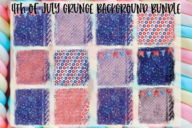 4th of July Grunge Background Bundle Sublimation PNG example image 1