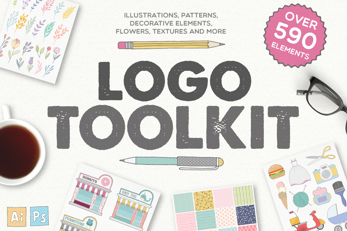 Logo Toolkit - Over 590 Elements example image 1