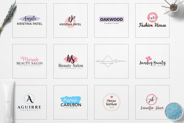 Feminine Minimal Branding Logo Pack example image 5