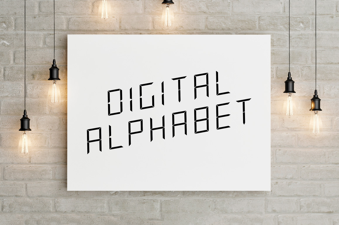 Digital minimalistic vector alphabet example image 4
