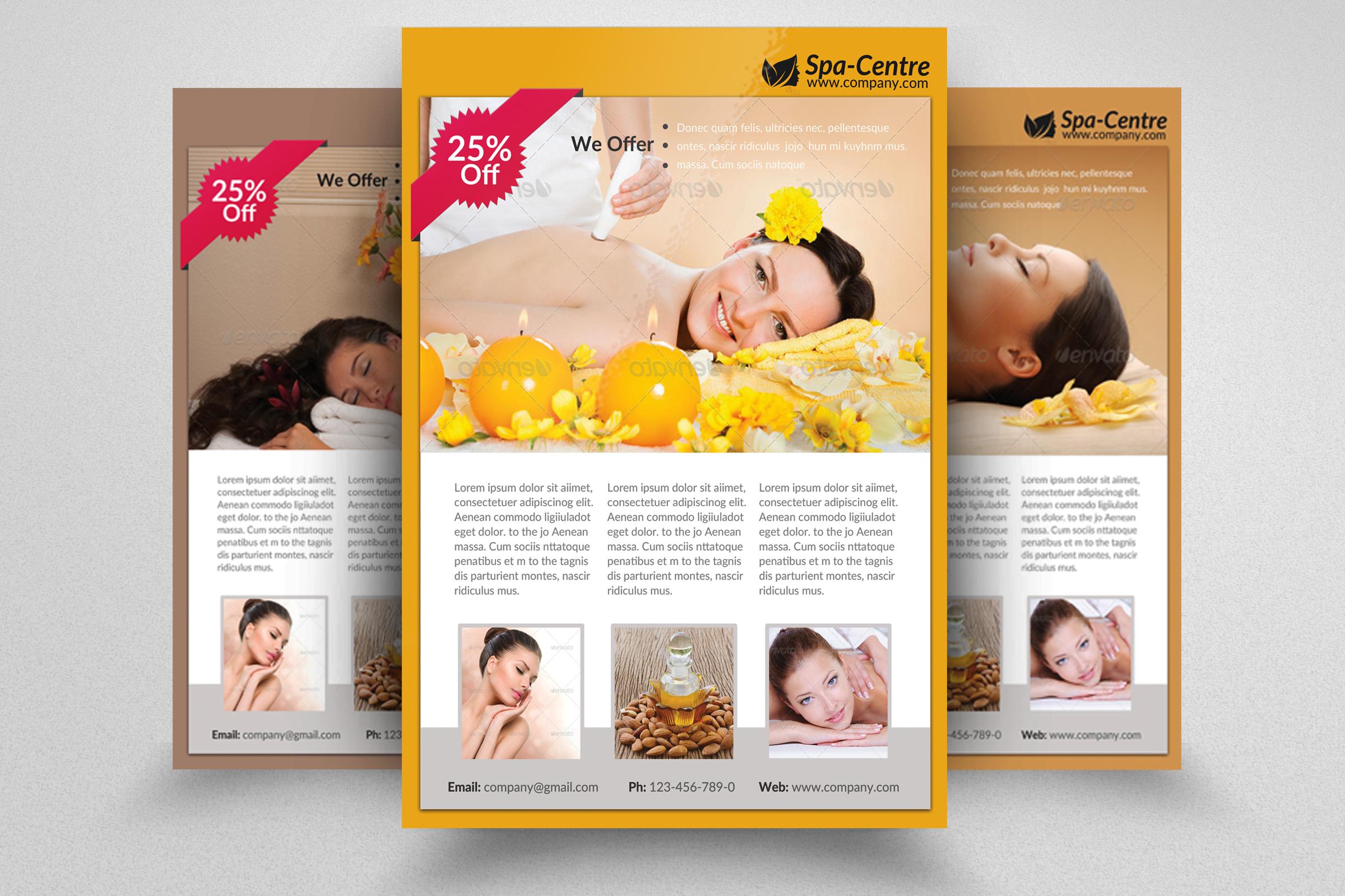 6 Beauty Spa & massage Centre Flyers Bundle example image 6