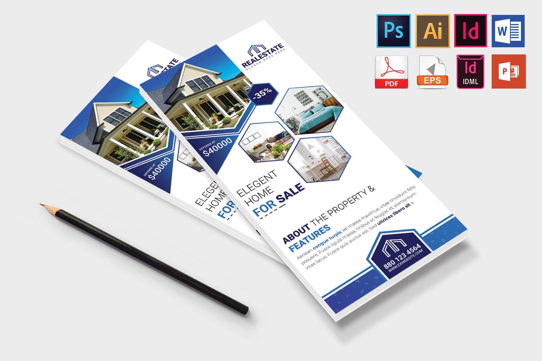 Rack Card   Real Estate DL Flyer Vol-01 example image 4
