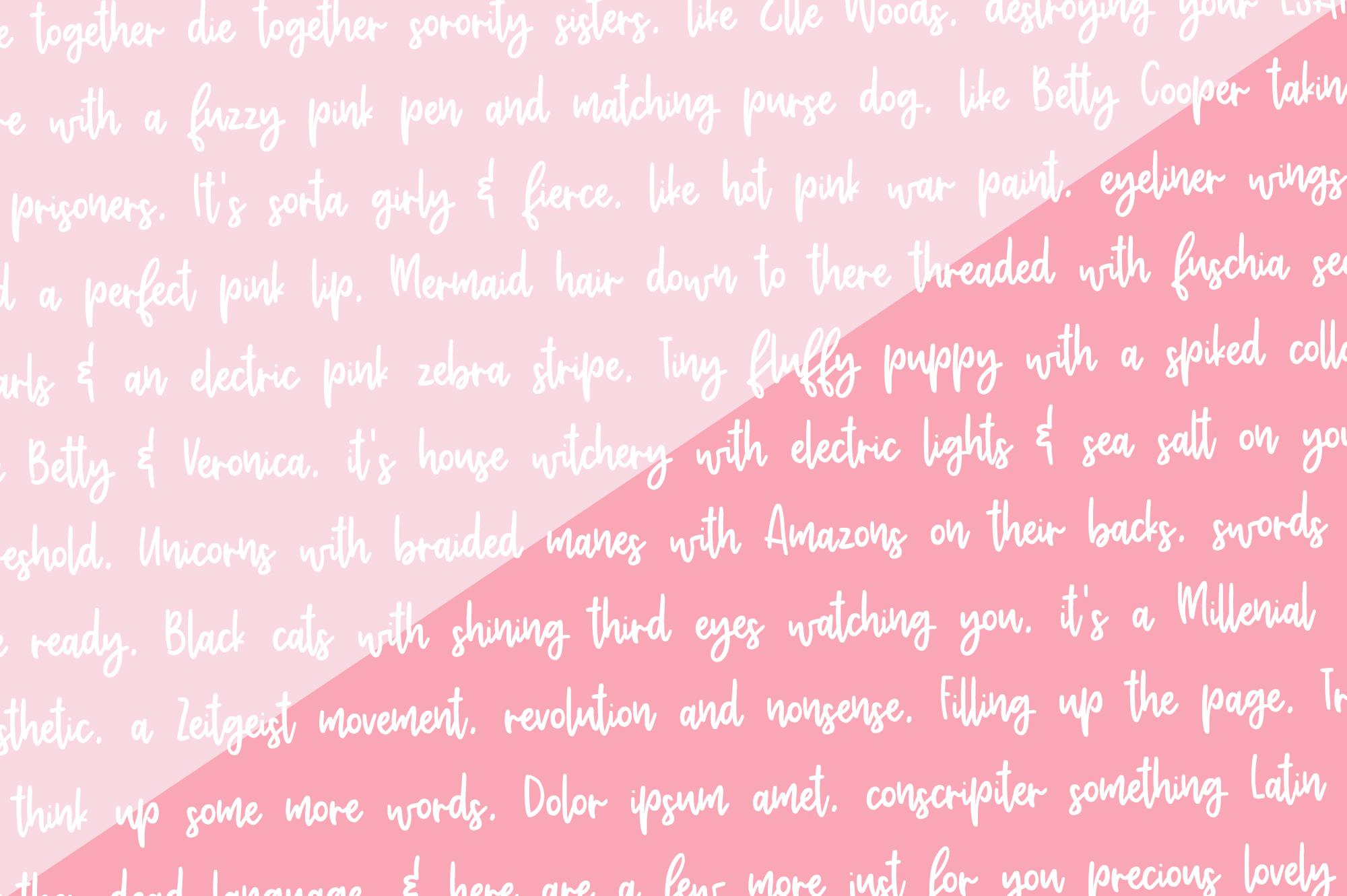 Adorbs, a monoline script font example image 2