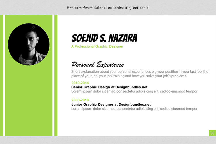 A4 Resume Templates Word example image 16