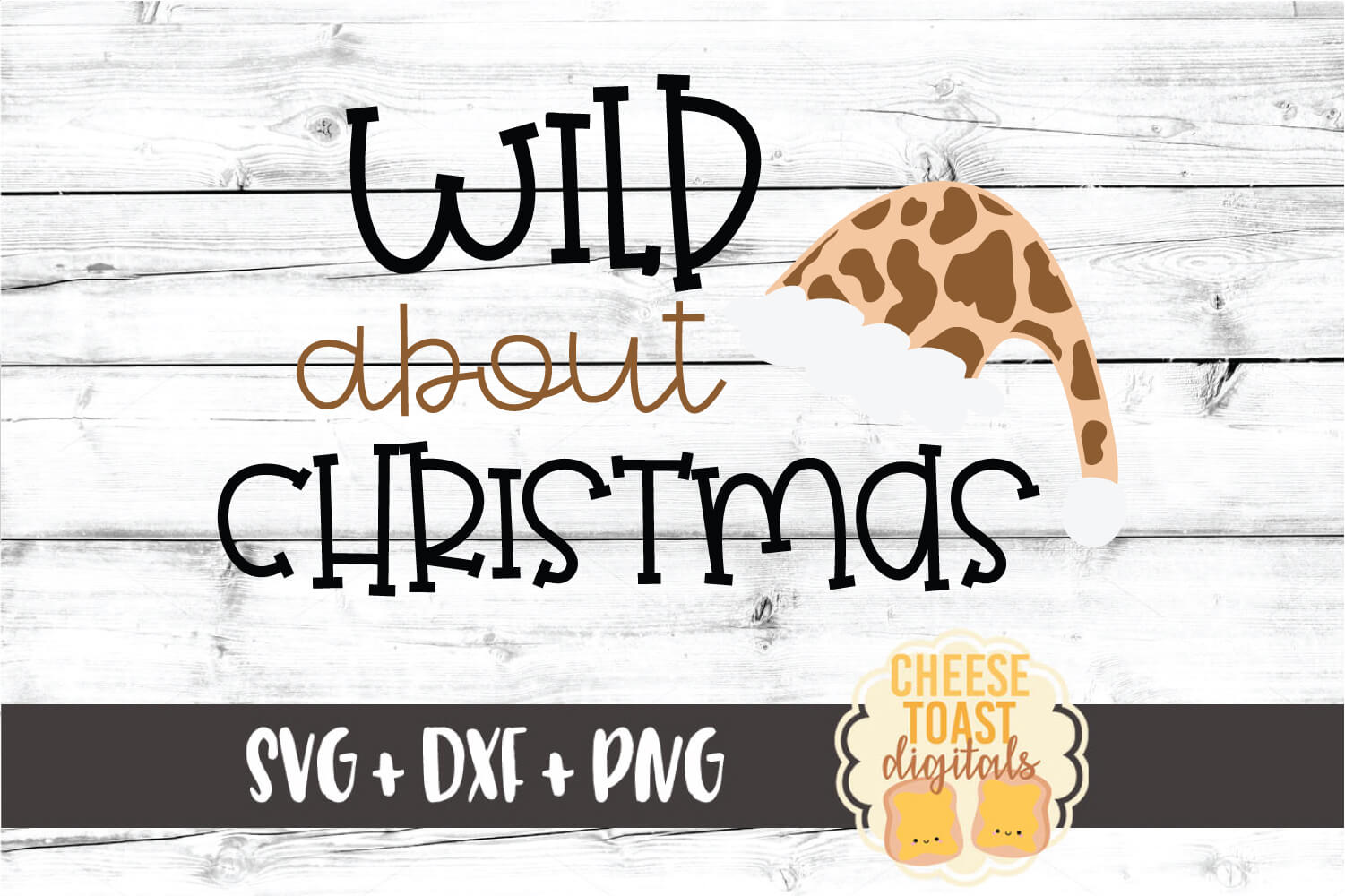 Wild About Christmas - Leopard Print SVG PNG DXF Cut Files example image 2