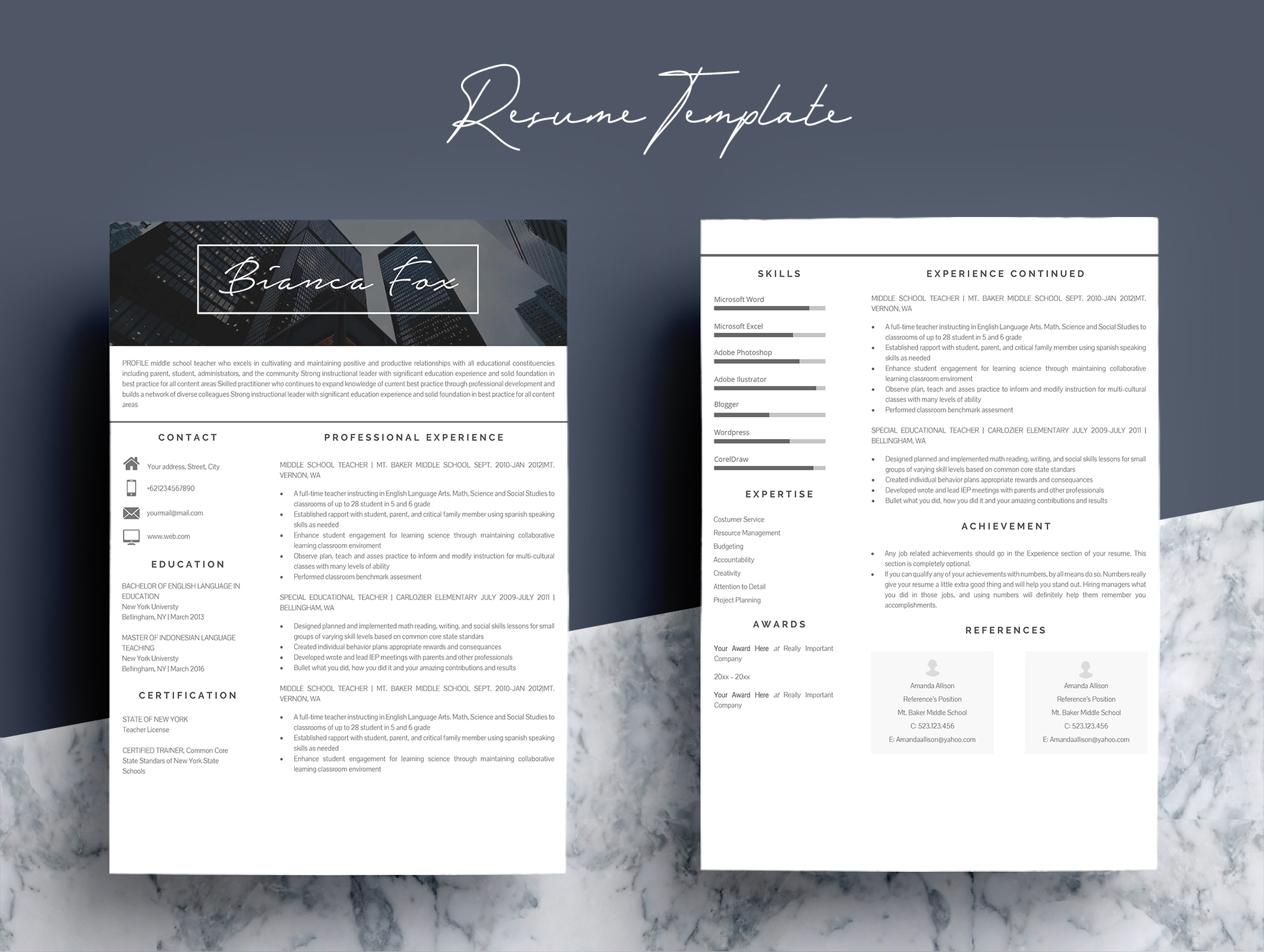 Professional Microsoft Word Resume Template example image 4