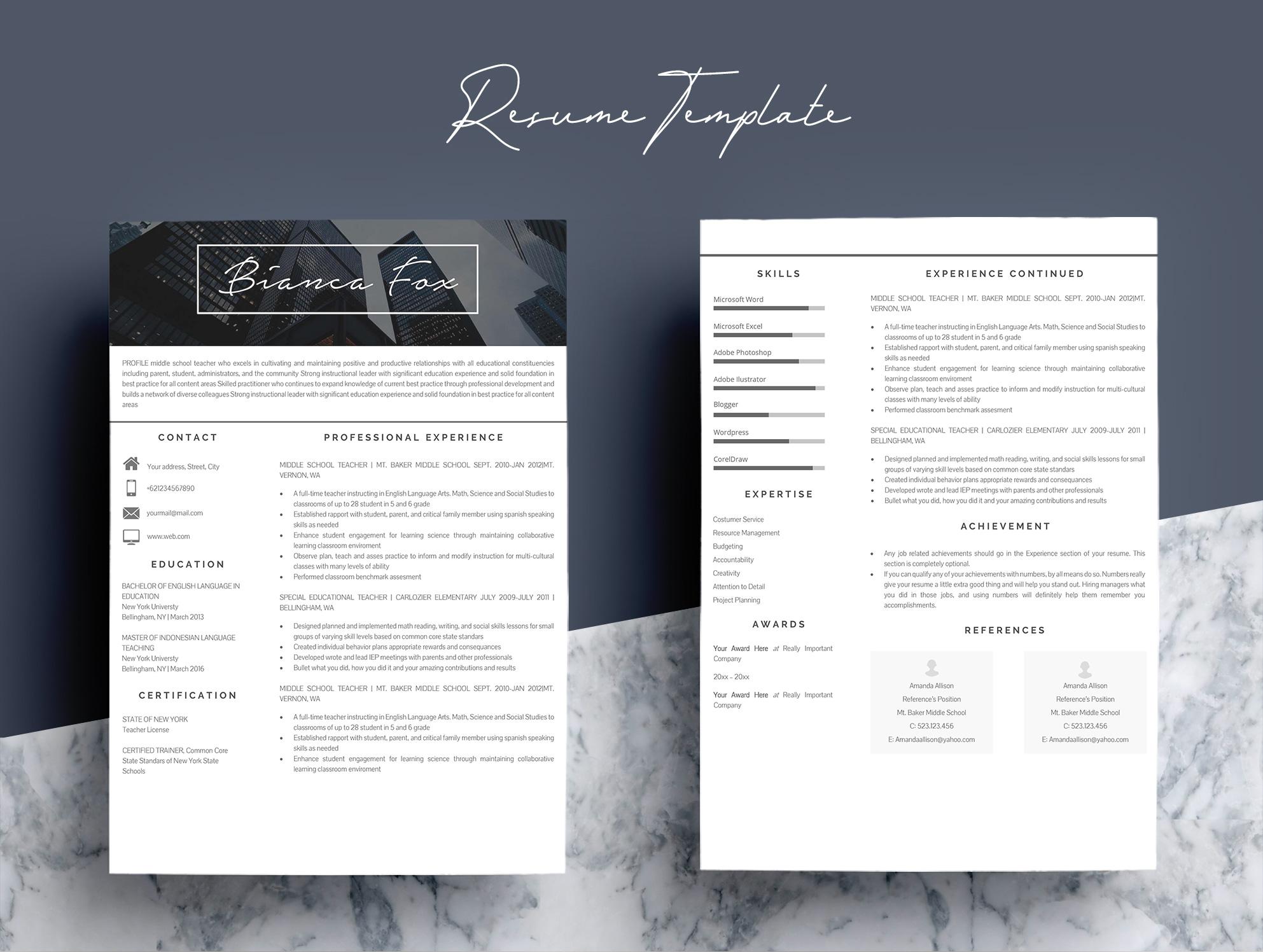professional microsoft word resume template