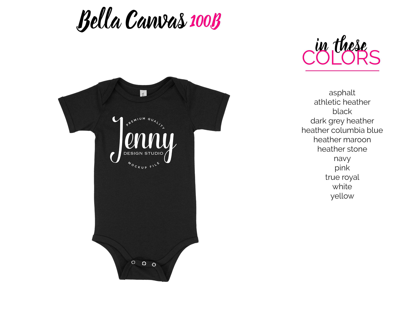 Bella Canvas 100B Unisex Bodysuit Mockup Bundle example image 3