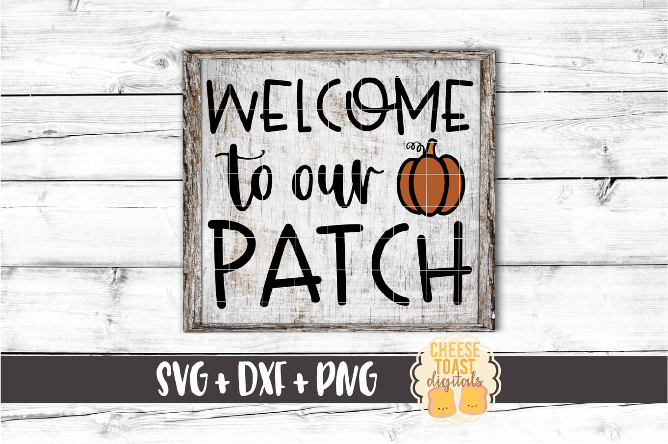 Welcome To Our Patch - Fall SVG PNG DXF Cut Files example image 1
