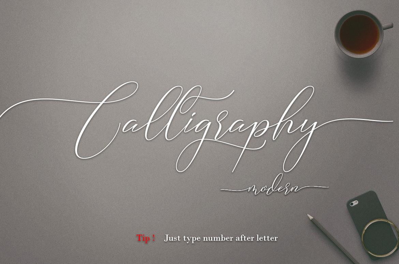 Camelia Calligraphy Modern example image 5