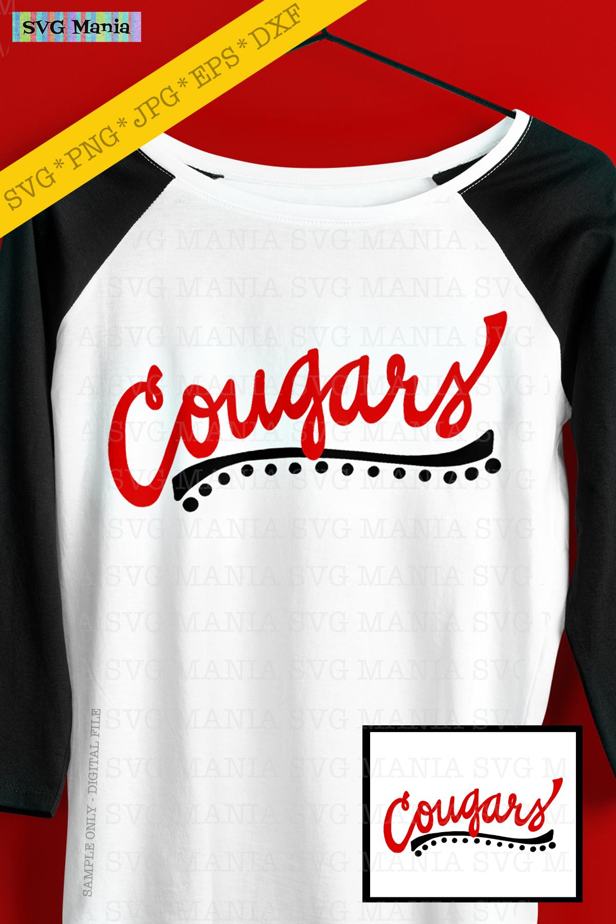 Cougars SVG File, Cougars Sports Team SVG, Cougar Spirit SVG example image 2