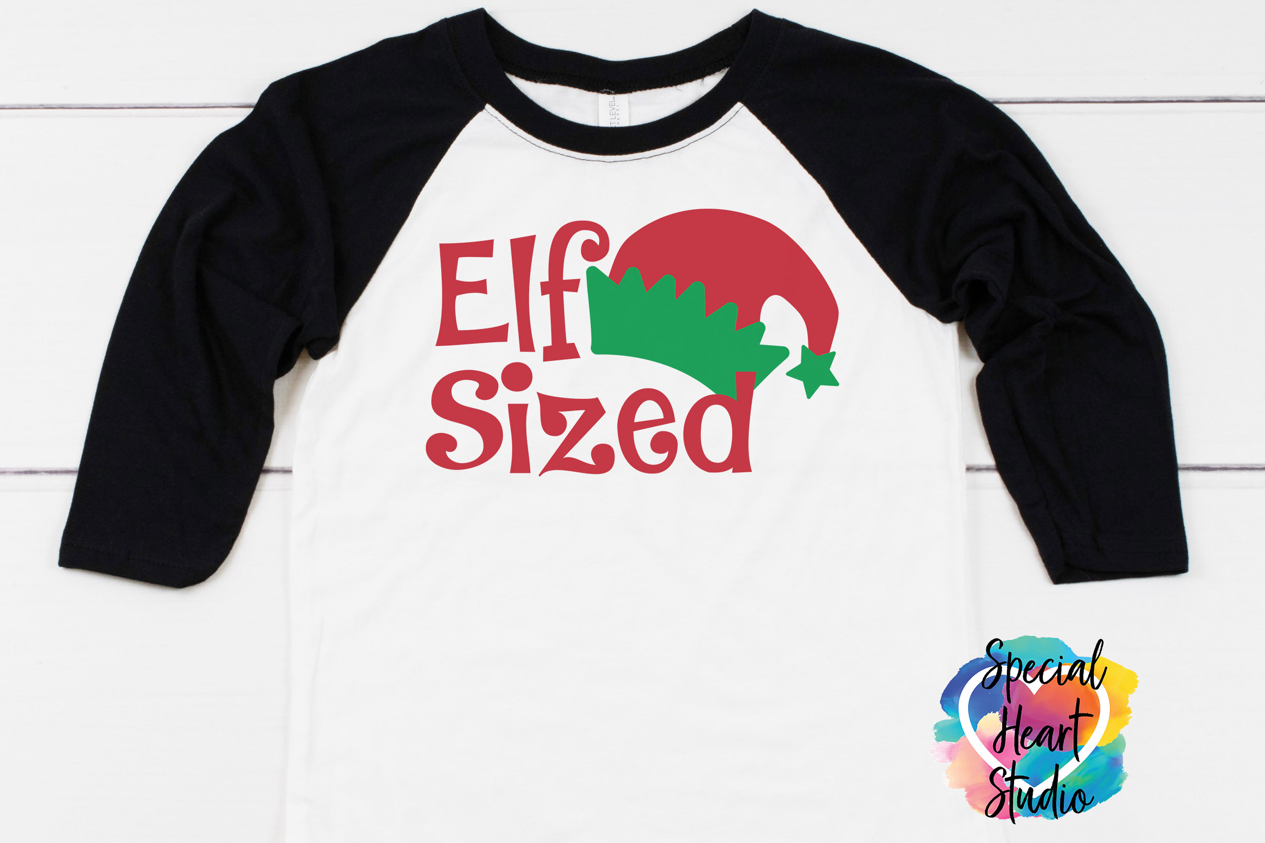 Elf Sized - A Fun Christmas SVG Cut File example image 1