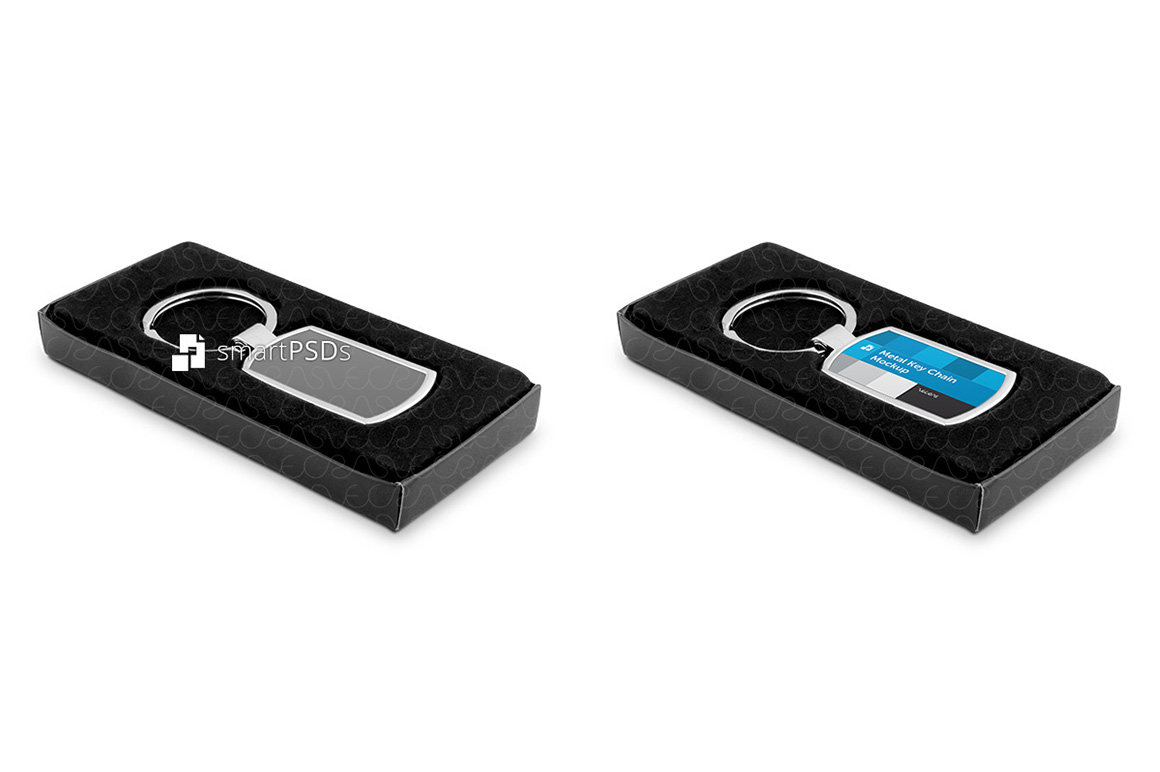 Metal Key Chain Mockup for Sublimation Design Preview example image 5