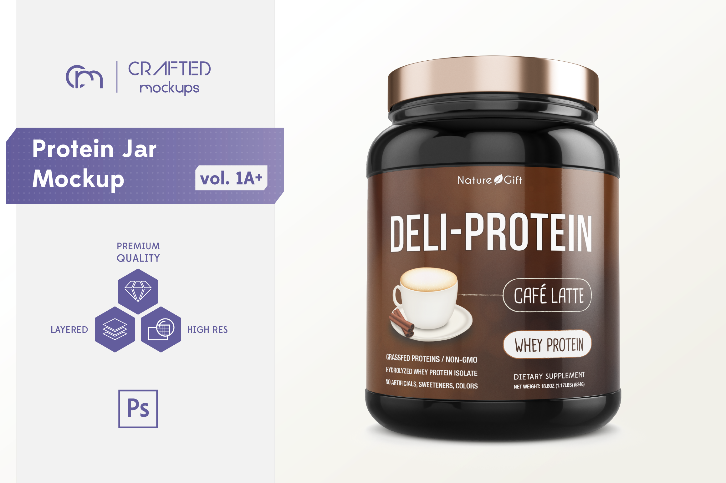 Protein Jar Mockup vol. 1A Plus example image 1