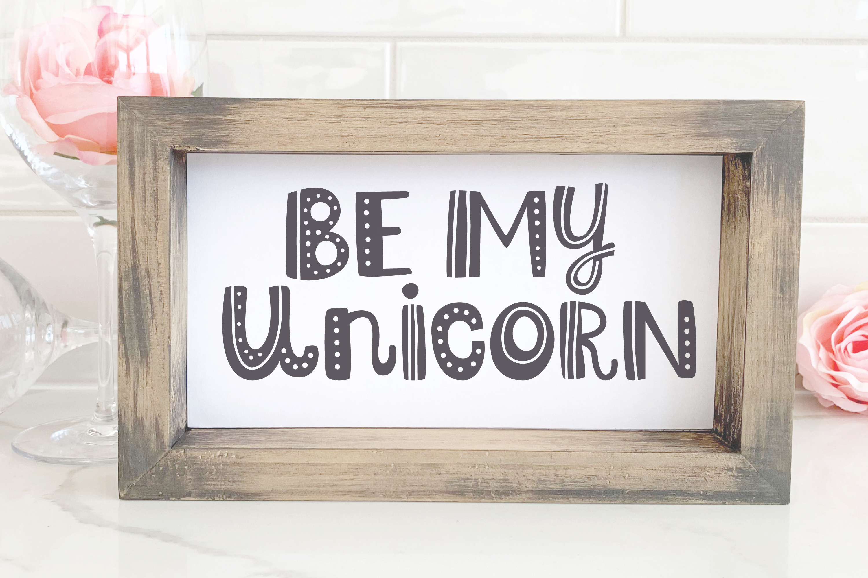 Valentine Unicorn Svg, Be My Unicorn Cut File, Valentines Da example image 13