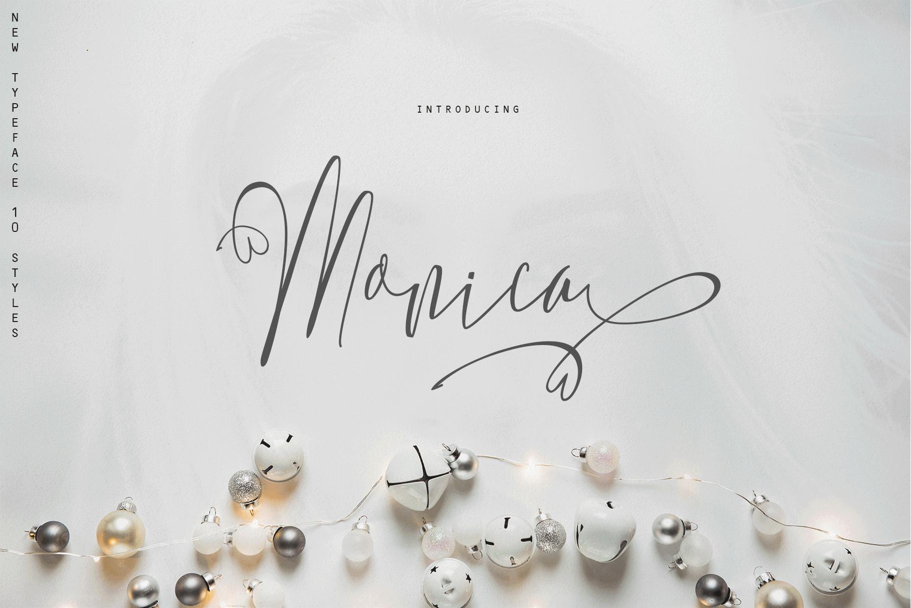 Monica -10 Elegant Font example image 1